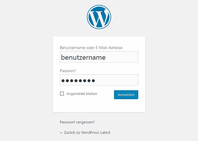 Anmelden mit Benutzernamen oder E-Mail-Adresse